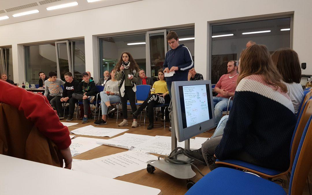 GMS Schüler bei Gemeindesitzung